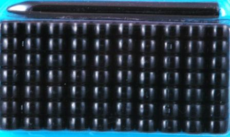 Black Bead Barrettes