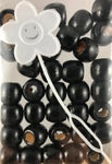 Black Natural Wooden Hair Beads