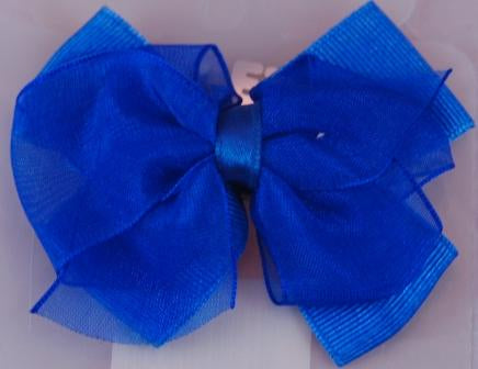 Layered Hair Bow - Blue
