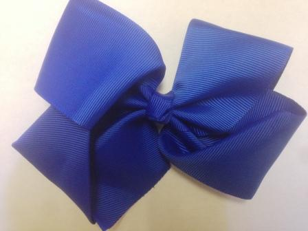 Blue Hair Bow - Large