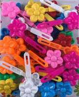 Bright color kids barrettes