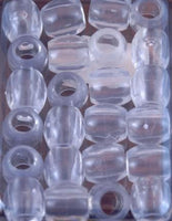 Clear Barrel Hair Beads - extra Large Hole