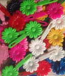 Assorted Color Daisy Barrettes