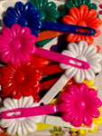 large flower barrette mix
