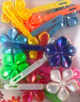 Flower Kids Barrettes with sheen