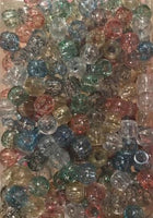 240pk Medium Hair Beads Multicolor Glitter
