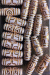Gold tube barrel hair beads