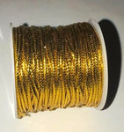 Gold hair thread for braids