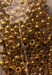 Gold hair beads, pony beads