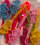 Heart Barrettes with Sheen