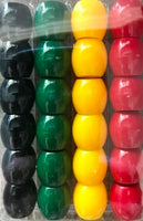 Jamaican color large barrel hair beads
