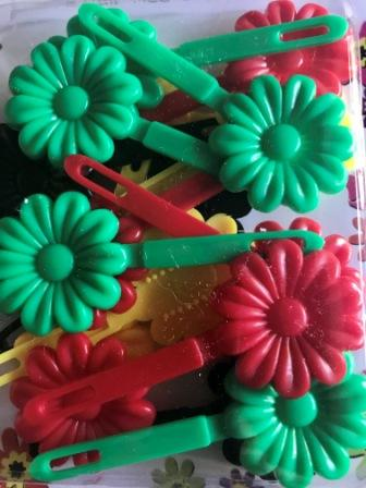 Jamacian color barrette mix