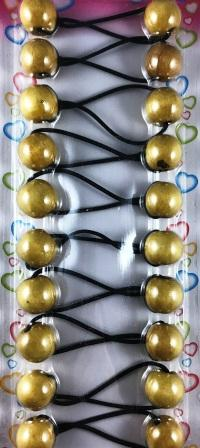 Light wooden hair beads