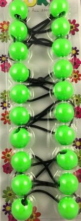 lime green hair bobbles