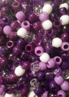 240pk Medium Shades of Purple Hair Beads