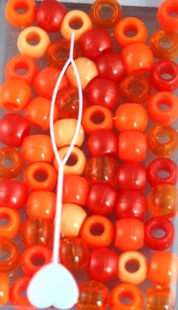 Medium Shades of Orange Hair Beads