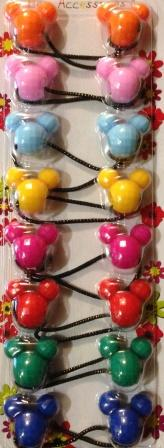 Mickey Multi Color Hair Ballies