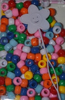 800pk Bright Assorted Hair Beads