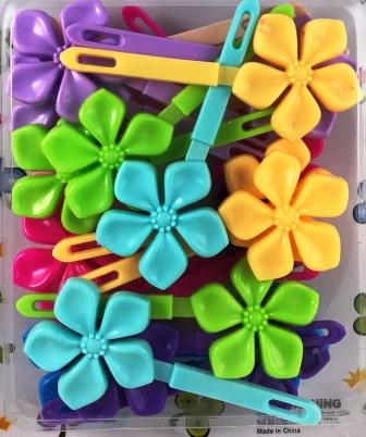 Pastel Flower Hair Barrettes