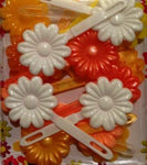 Peach, Orange, Yellow, White Barrette Mix
