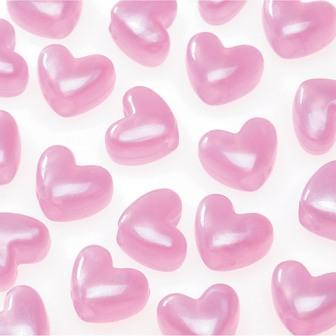 Pink pearl heart hair bead