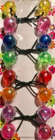 Multi color hair ballies with sheen