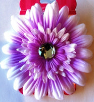 Purple Flower Hair Bow with Bling