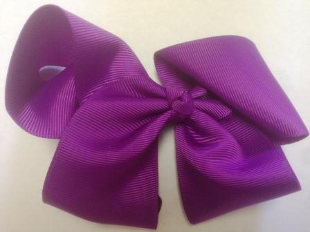 Purple Hair Bow - Large