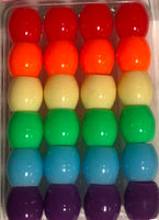 Barrel Hair Beads - Rainbow 2 - extra large hole