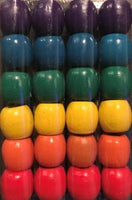 Rainbow Barrel Wooden Hair Beads