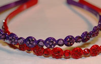 Red and Purple Sparkle Headband