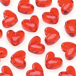 Red heart hair bead