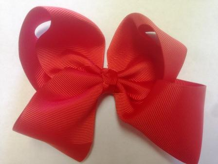 Red Hair Bow - Large