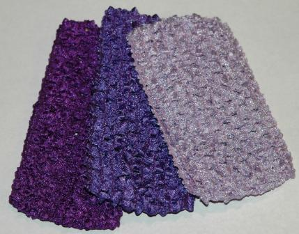 Shades of Purple Ballerina Headbands(qty3)