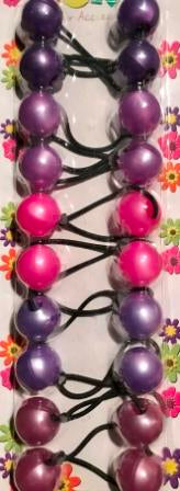 shades of purple hair bobbles mix