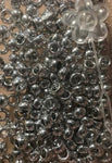 Silver hair beads, pony beads