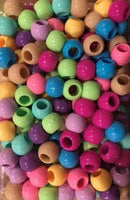 Spring color chubby hair beads