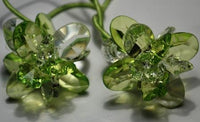 Translucent Green Flower Hair Bands (Qty 2)