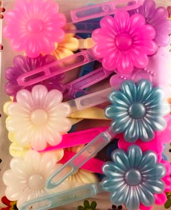 Wedding mix flower kids barrettes