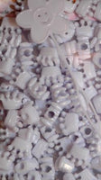 White Crown Hair Beads