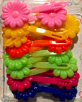 assorted color flower barrettes
