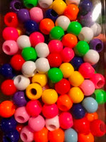assorted color medium chubby hair beads