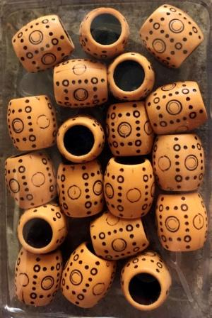 Decorative barrel hair beads style 1