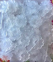 Clear Daisy Barrettes