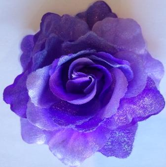 Dark Purple Flower Hair Bow