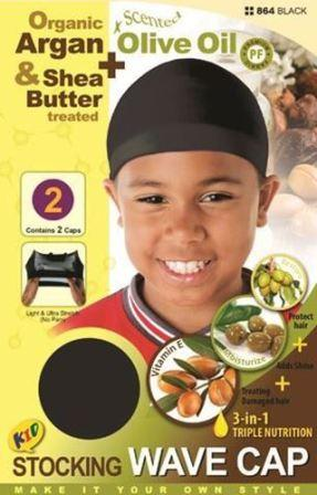 deluxe kids wave cap with olive oil and shea butter