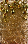 gold and gold glitter medium chubby hair beads