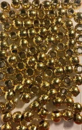medium size gold hair beads