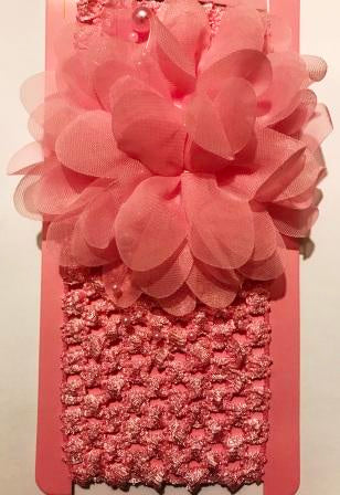 Ballerina Headband with Flower - Light Pink