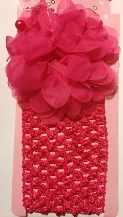 Ballerina Headband with Flower - Pink